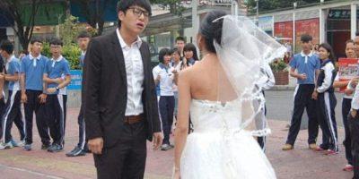 Ella esperaba una escena romántica. Foto:Weibo