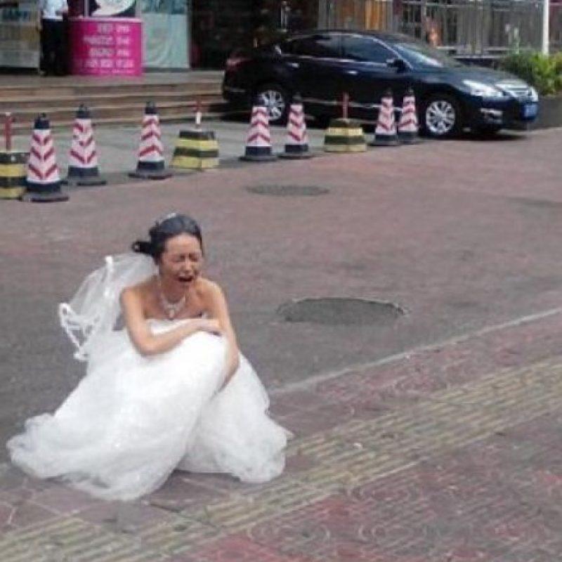 La que quería una escena de película. Foto:Weibo