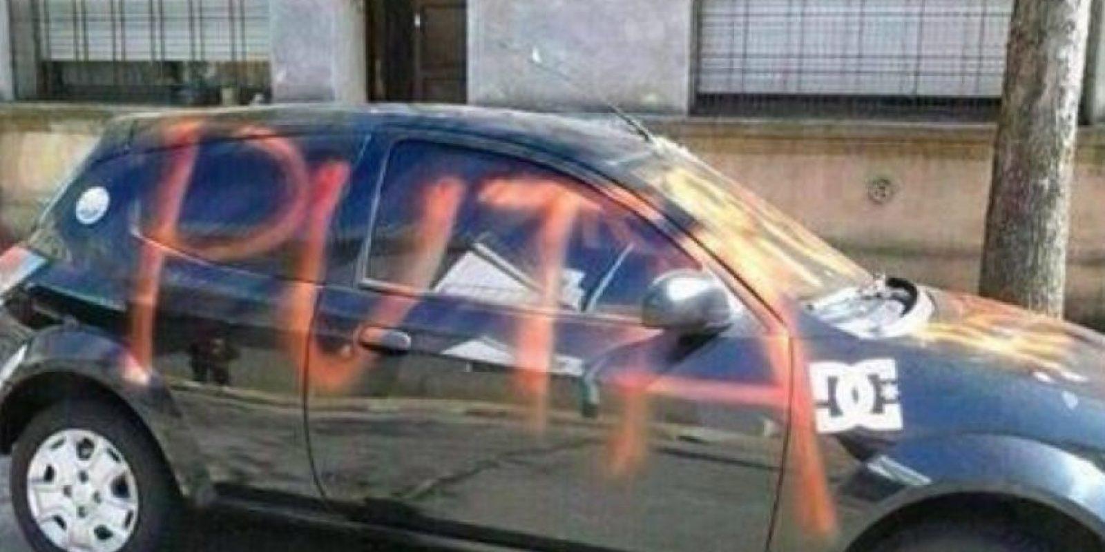 Creo que alguien no podrá llevar su auto al trabajo. Foto:Facebook