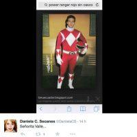 La compararon con el Power Ranger Rojo Foto:Twitter