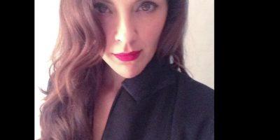 Es actriz. Foto:Twitter/Carolina Gómez