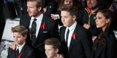David Beckham y Victoria: 4 hijos Foto:Getty Images