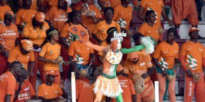 La afición de Costa de Marfil al inicio del partido Foto:AFP