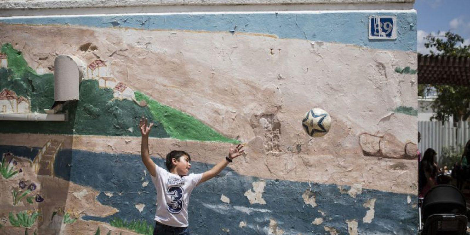 Pequeños en calles de Israel. Foto:Getty Images
