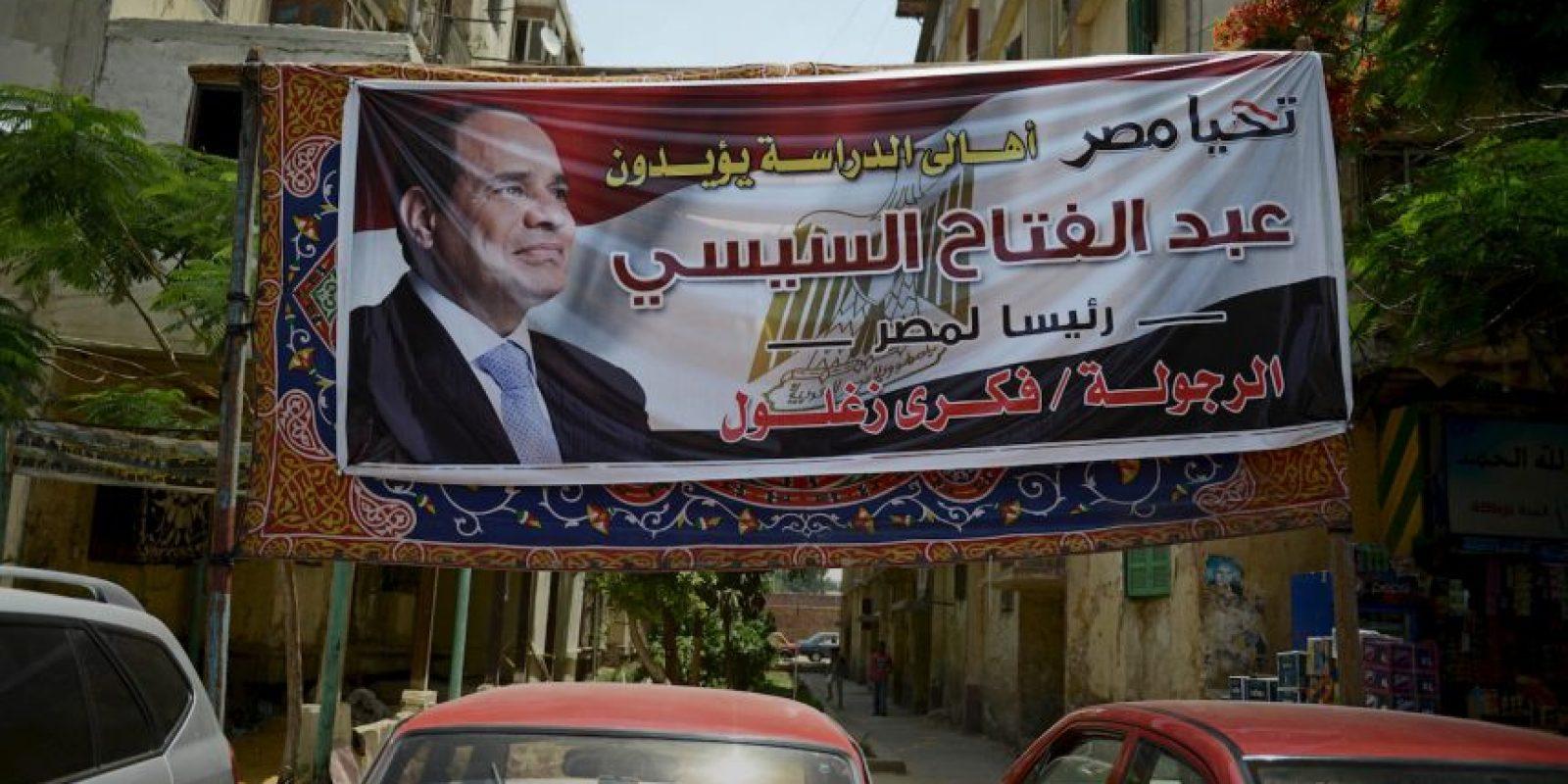 Ahora ex jefe militar, Abdel Fatah Al Sisi, gobierna Egipto. Foto:Getty Images