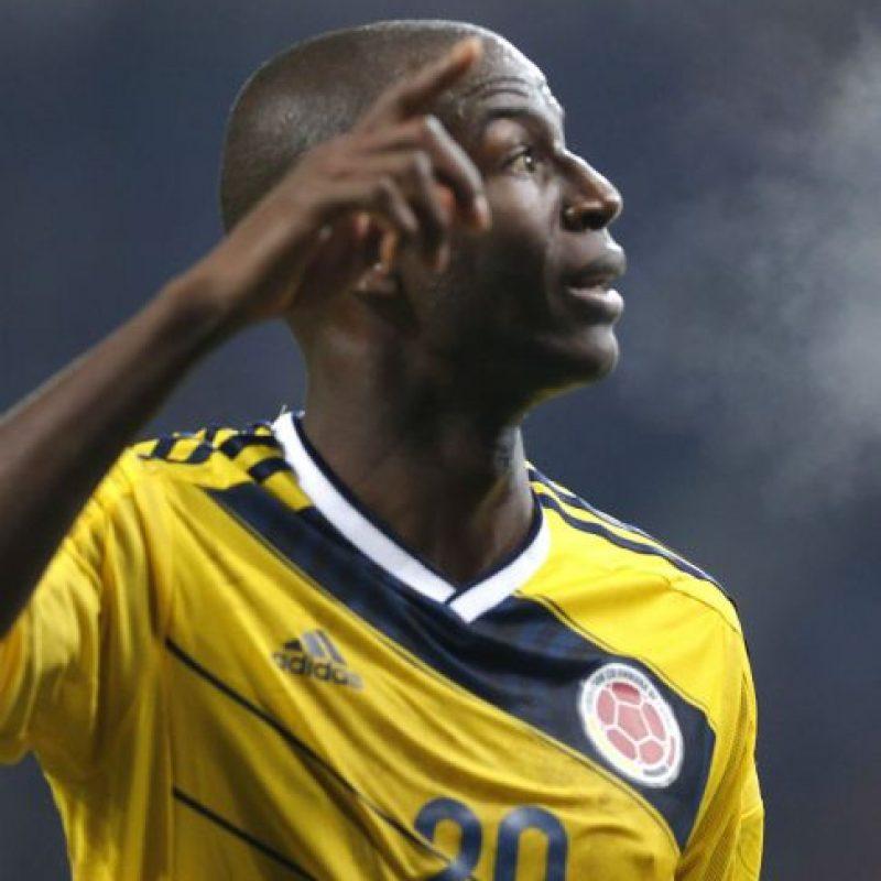 Adrián Ramos anotó el único gol para el triunfo de Colombia. Foto:AFP