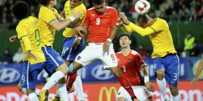 Brasil se impuso a 2-1 a Eslovenia con anotaciones de David Luiz y Roberto Firminio. Foto:AFP