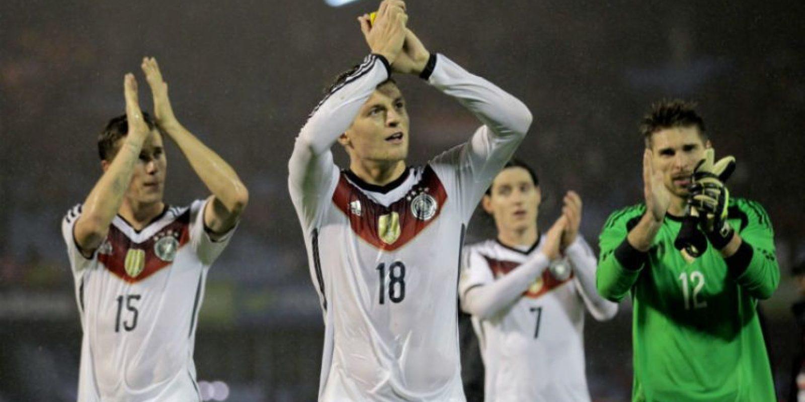 Toni Kroos le dio la victoria a Alemania. Foto:AFP