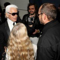 Con el diseñador Karl Lagerfeld Foto:Getty Images