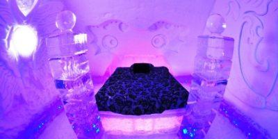 Hotel de Glace, en Canadá. Este iglú está construido con hielo y nieve. Foto:Flavorwire