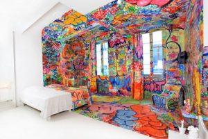 Au Vieux Panier Hotel, en Francia. Este cuarto es un sueño esquizofrénico. Foto:Flavorwire