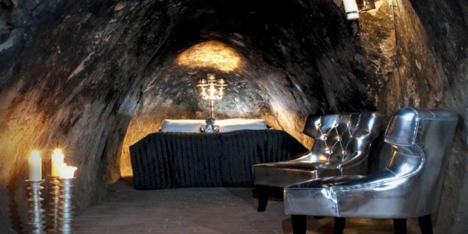 Sala Silvermine Underground Suite., en Suecia Este hotel, que antes era una mina de plata, está a 150 metros bajo la tierra. Foto:Geekology