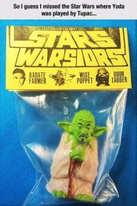 Este Yoda es Tupac Shakur Foto:Tumblr/Bootleg Toys