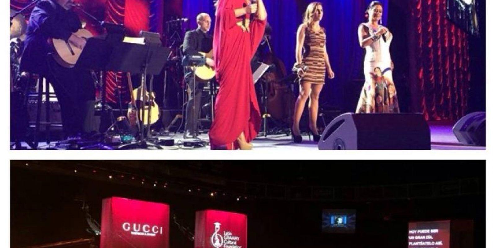"Lila Downs, Nina Pastori y Soledad Pastorutti cantaron ""La Saeta"" Foto:Facebook/LatinGrammy"