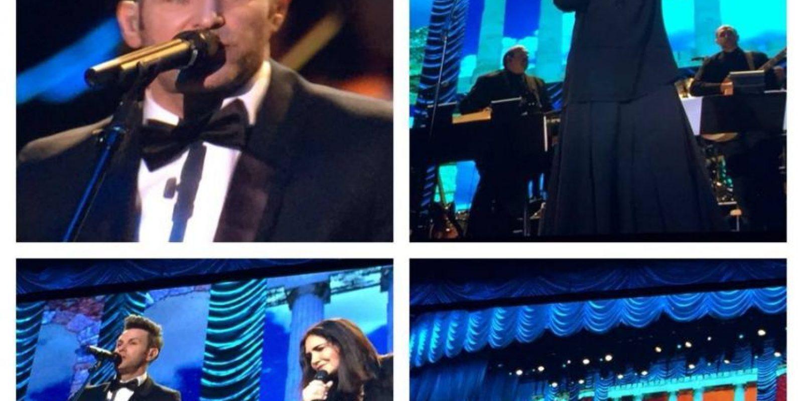 """Tania Libertad y Axel interpretaron """"Cantares"""" Foto:Facebook/LatinGrammy"""