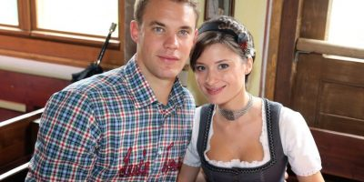 Manuel Neuer y Kathrin Gilch. Foto: Getty Images