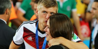 Toni Kroos y Jessica Farber. Foto: Getty Images