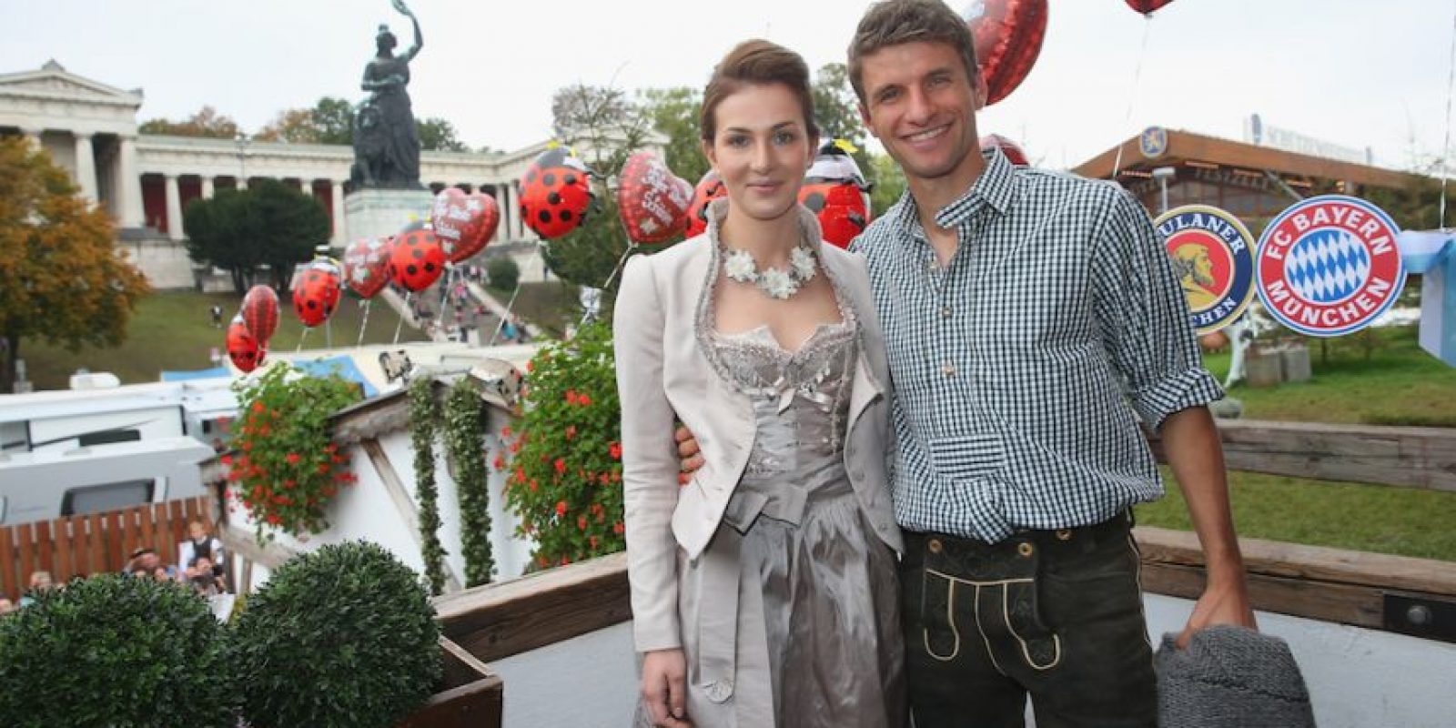 Lisa y Thomas Müller. Foto: Getty Images