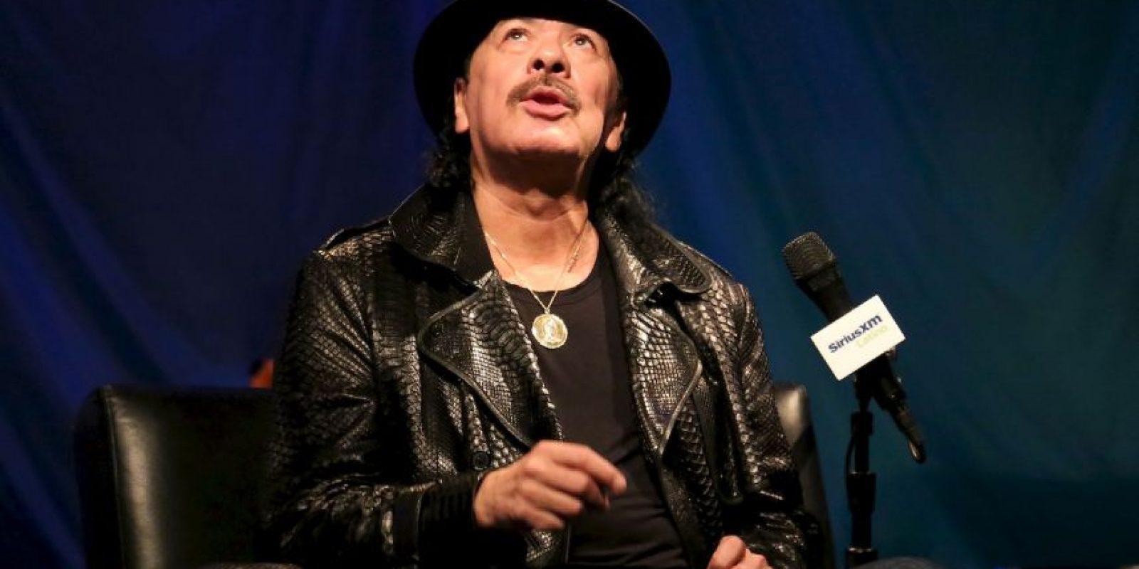 El guitarrista Carlos Santana Foto:Getty