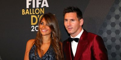Antonella Roccuzzo y Lionel Messi. Foto: Getty Images