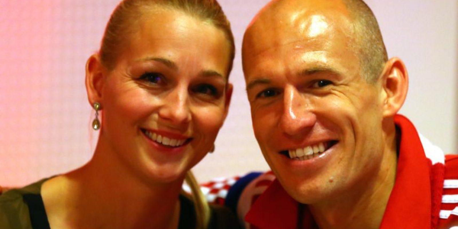 El futbolista holandés está felizmente casado desde 2007. Foto:Getty Images