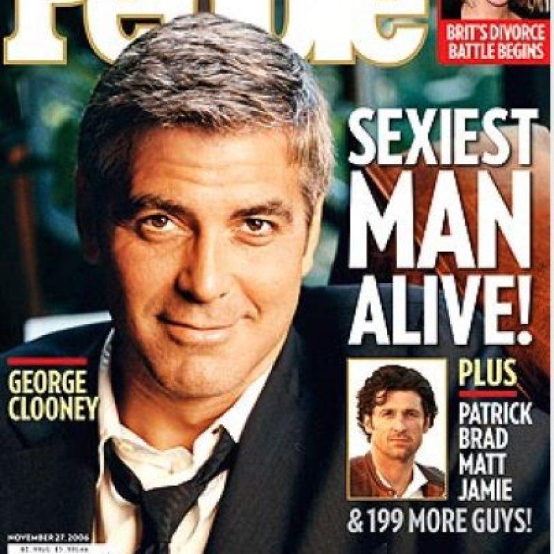 Clooney también fue portada en 2006 Foto:People