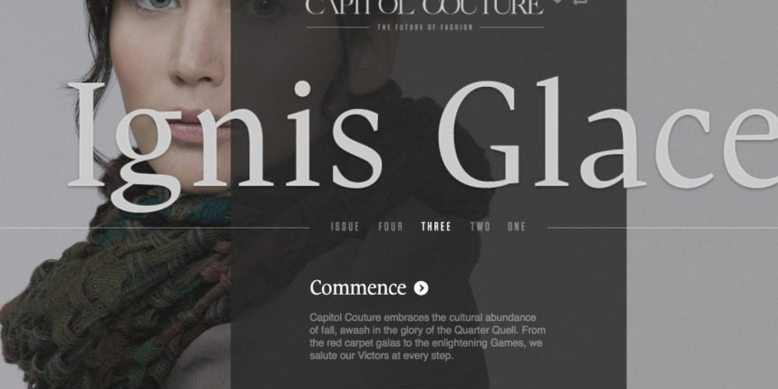 El blog hace sentir al lector en Panem, la capital mencionada en la saga. Foto:Capitol Couture