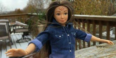 """Esta """"Barbie"""" fue presentada a comienzos de este año. Foto:Lammily"""
