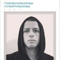 """""""El Chicharito"""" Javier Hernández, jugador del Real Madrid, publicó #TodosSomosAyotzinapa Foto:Twitter @CH14_"""