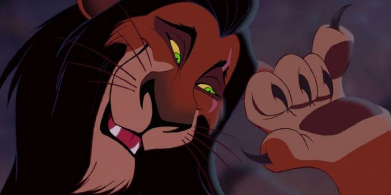 """Scar, por su elegancia, también era considerado """"gay"""" Foto:Disney"""