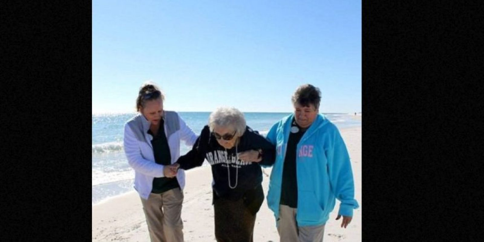 Ruby Holt es una anciana de 100 años que nunca conoció el mar. Foto:Perdido Beach Resort