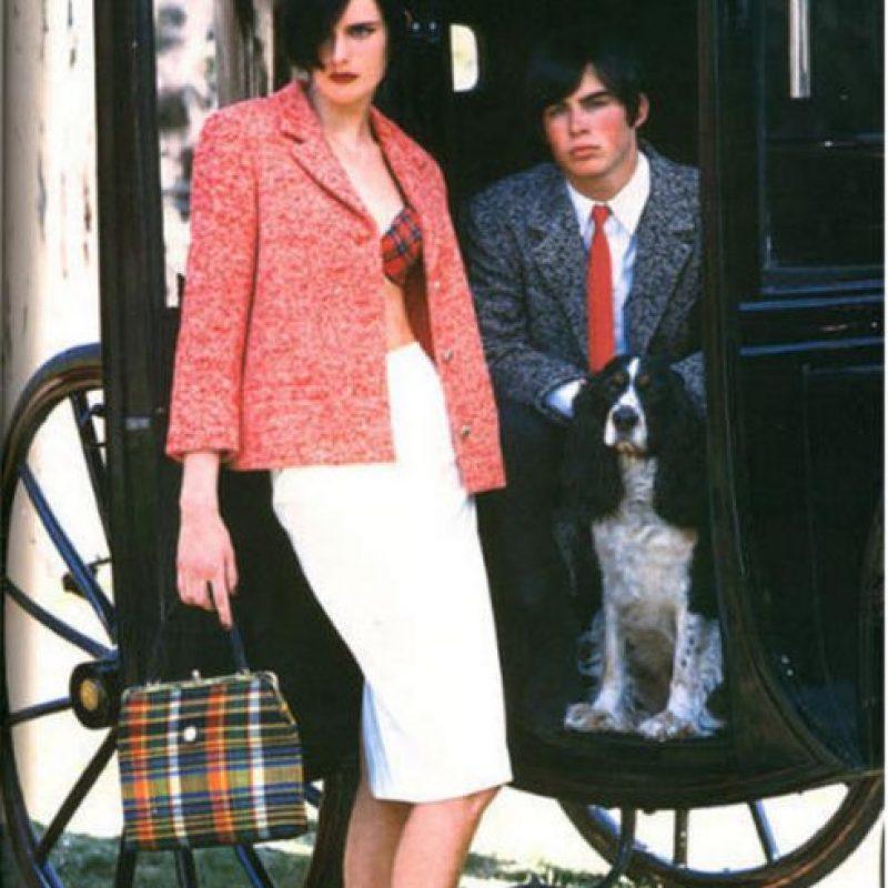 1995, antes de alcanzar la mayoría de edad, Ian Somerhalder ya había modelado para Versace y Nautica Foto:Versace