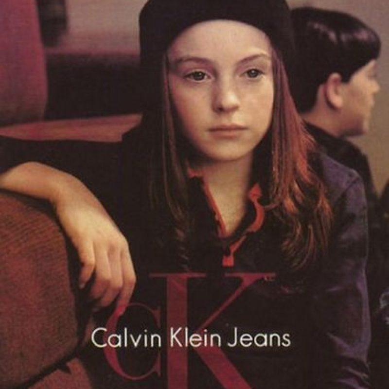 1992, Lindsay Lohan firmó con Ford Models cuando tenía tres años y apareció en anuncios de Calvin Klein Kids Foto:Calvin Klein