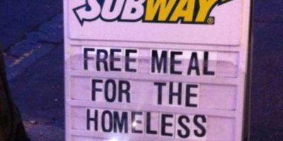 Subway alimenta a los necesitados Foto:Tumblr