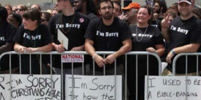 Estos cristianos se disculpan por su homofobia Foto:Tumblr