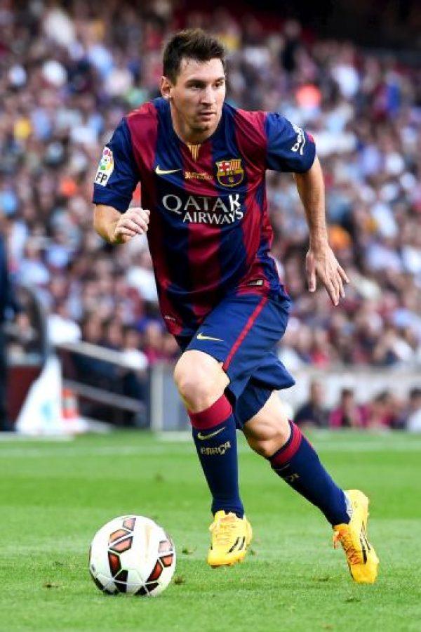Único futbolista en haber sido máximo goleador y máximo asistente en una misma temporada en España: 50 goles y 15 asistencias (2011-2012) Foto:Getty Images