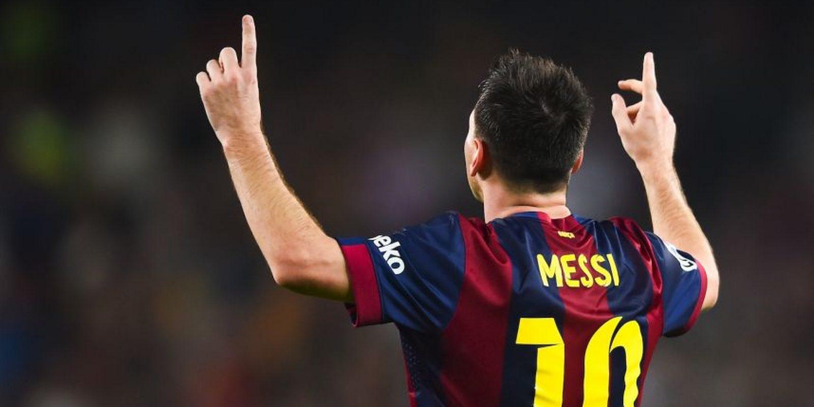 Máximo goleador como local en una temporada en la Liga: 35 goles en el Camp Nou en la Liga 2011/12. Foto:Getty Images
