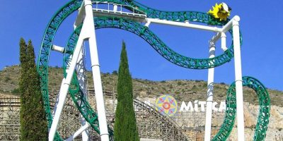 Parque: Terra Mítica. Localización: Benidorm, Alicante, España. Altura: 26 m. Velocidad: 60 km/h. Longitud: 142 m. Caída: 22 m Foto:Wikimedia