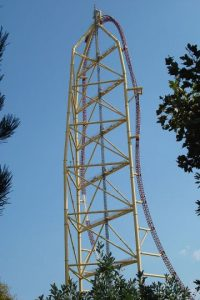 Parque: Cedar Point. Localización: Sandusky, Ohio, EE.UU. Altura: 128 m. Velocidad: 193 km/h. Longitud: 853 m. Caída: 122 m. Foto:Wikimedia