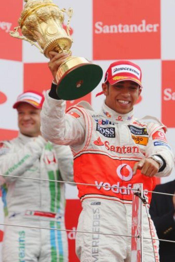 El 6 de julio de 2008 se impuso en el GP de Gran Bretaña, primer triunfo en casa Foto:Getty Images
