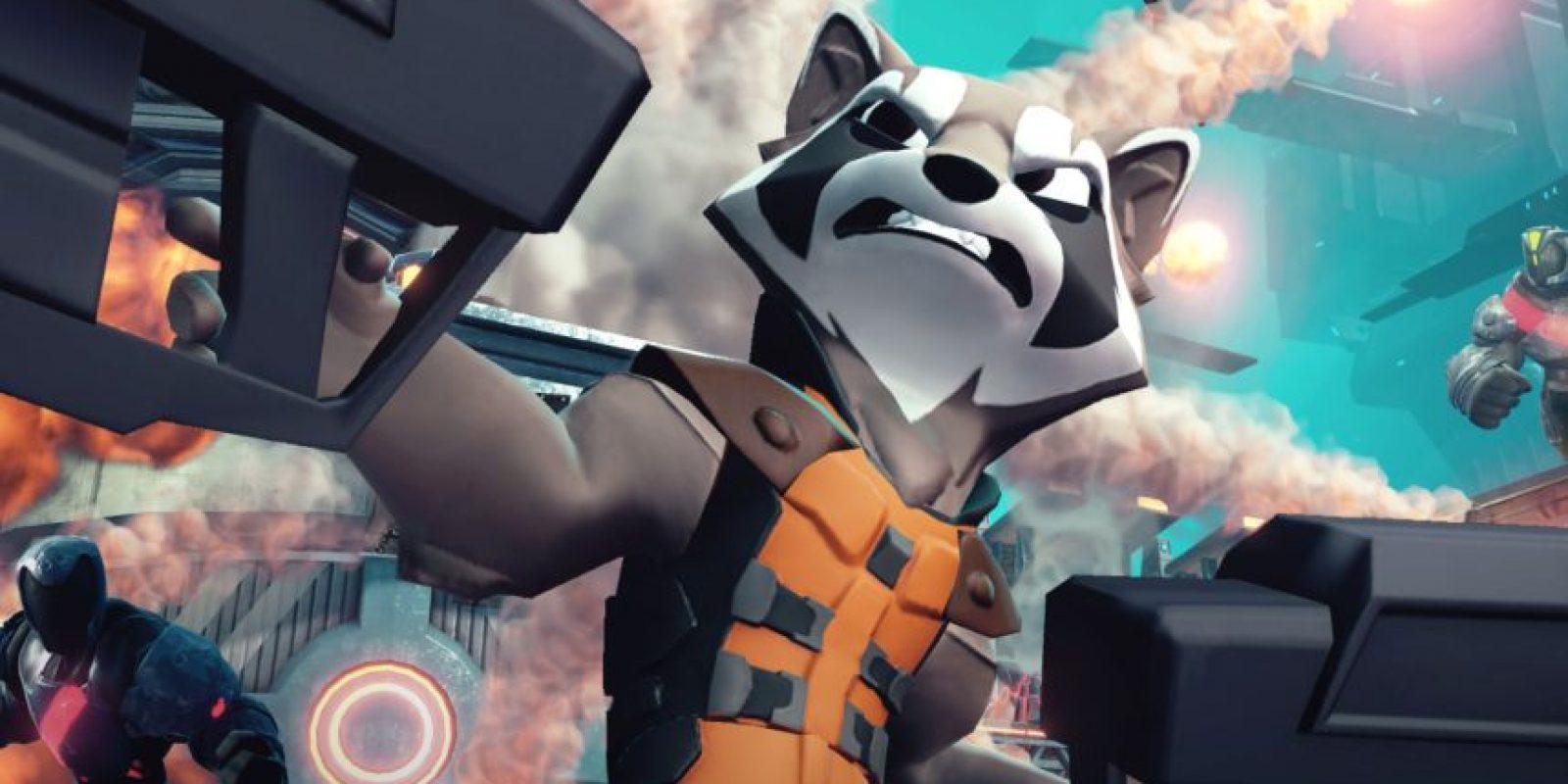 Rocket Raccon también aparece en el nuevo videojuego Foto:Disney Infinity 2.0