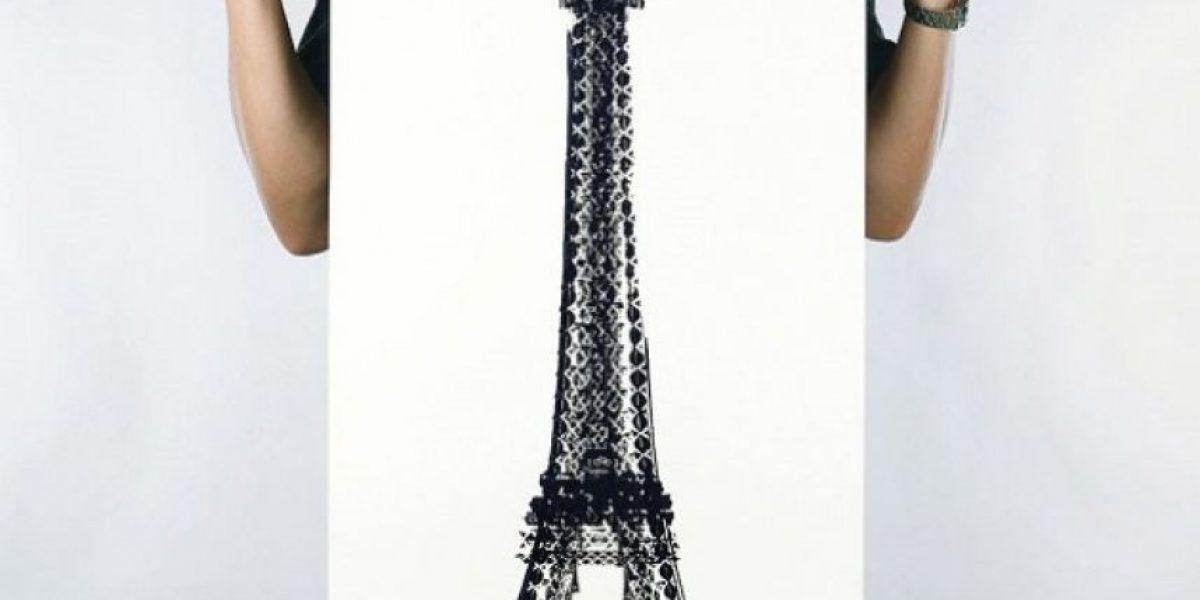 Galería: Artista pinta monumentos famosos con la rueda de su bicicleta
