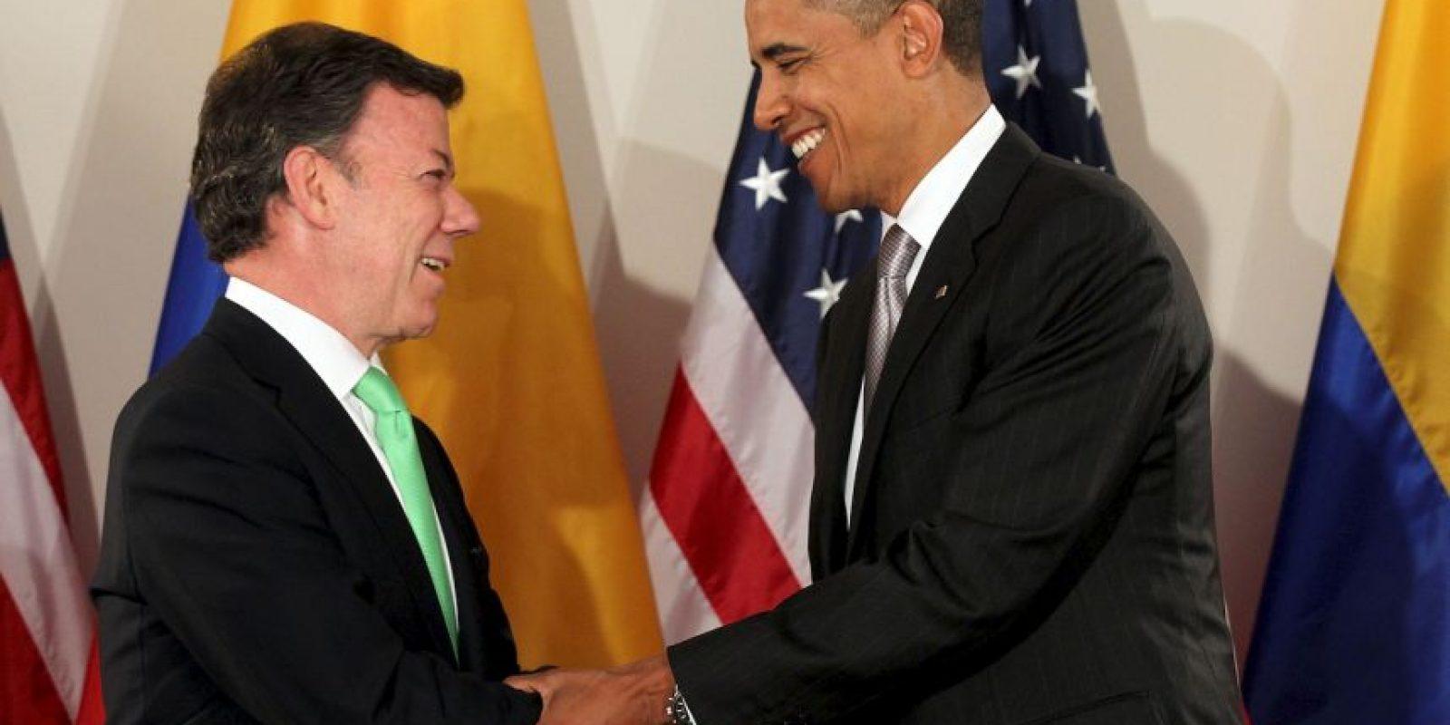 Juan Manuel Santos: En su primera reunión oficial con Barack Obama Foto:Getty Images