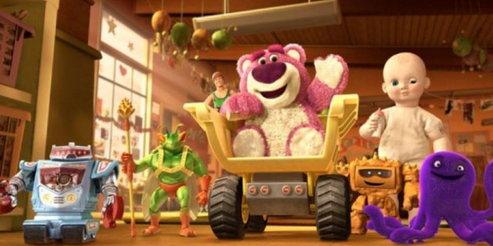 1.- Lotso, de la tercera película, tiene 3 millones 473 mil 271 cabellos de diferente longitud y grosor. Foto:Facebook/Toy Story