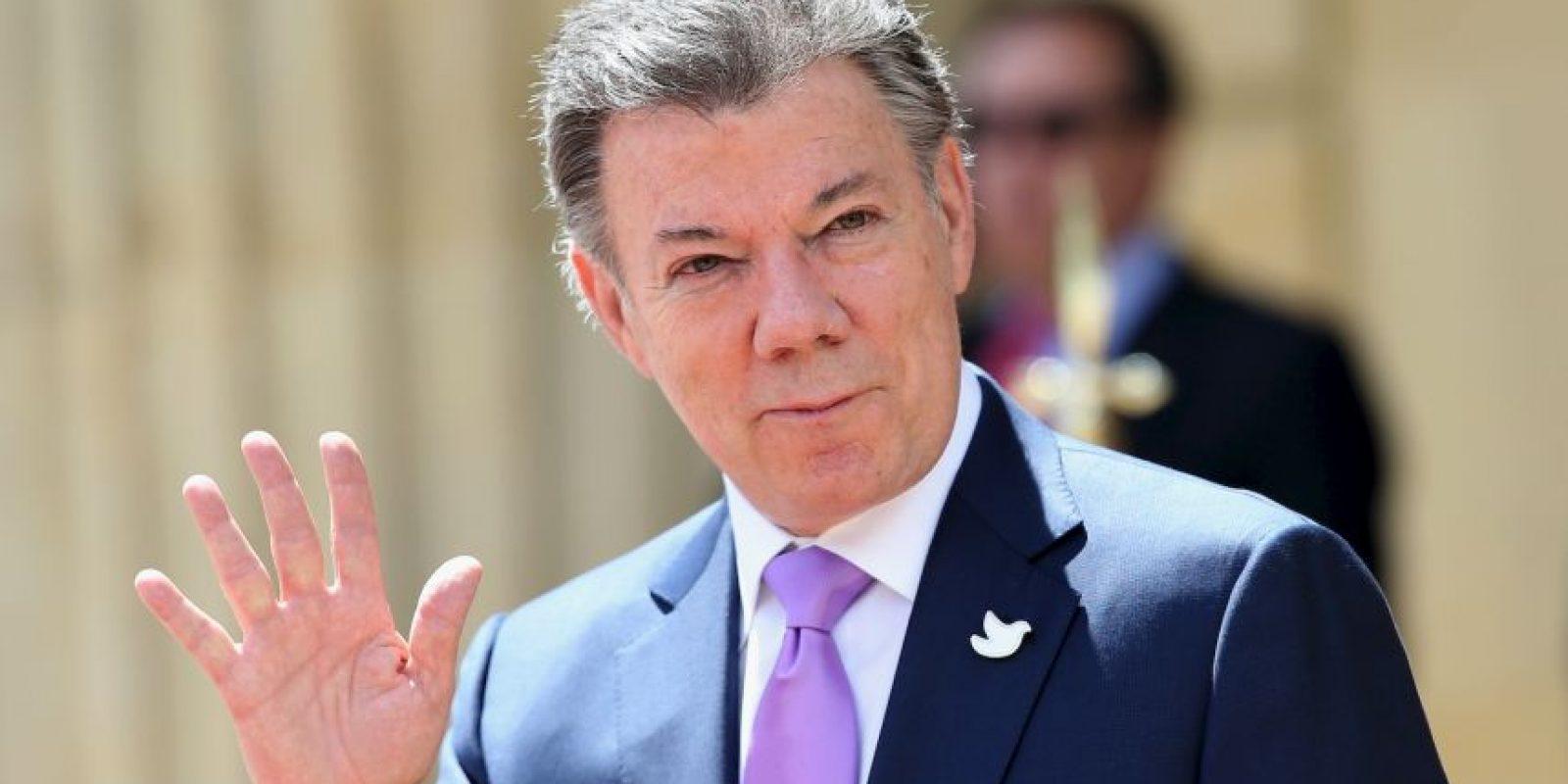 Juan Manuel Santos: 2014, en la visita del Príncipe Carlos a Colombia Foto:Getty Images