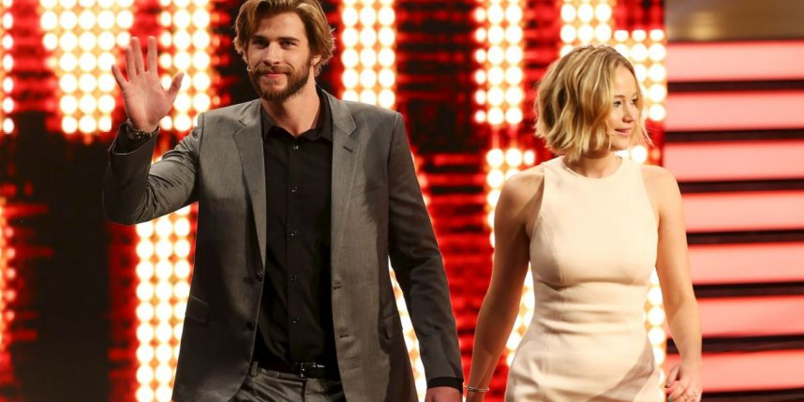 Liam Hemsworth y Jennifer Lawrence Foto: Getty Images