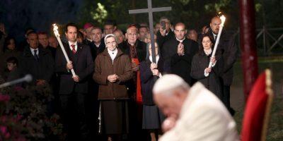 En abril pasado, el Papa Francisco encabezó el Viacrucis en el Coliseo Romano Foto:Getty Images