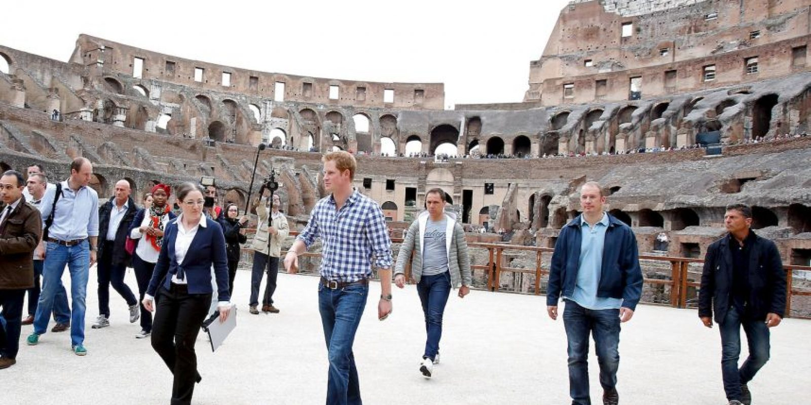 El Príncipe Harry de Inglaterra también ha visitado el histórico lugar Foto:Getty Images