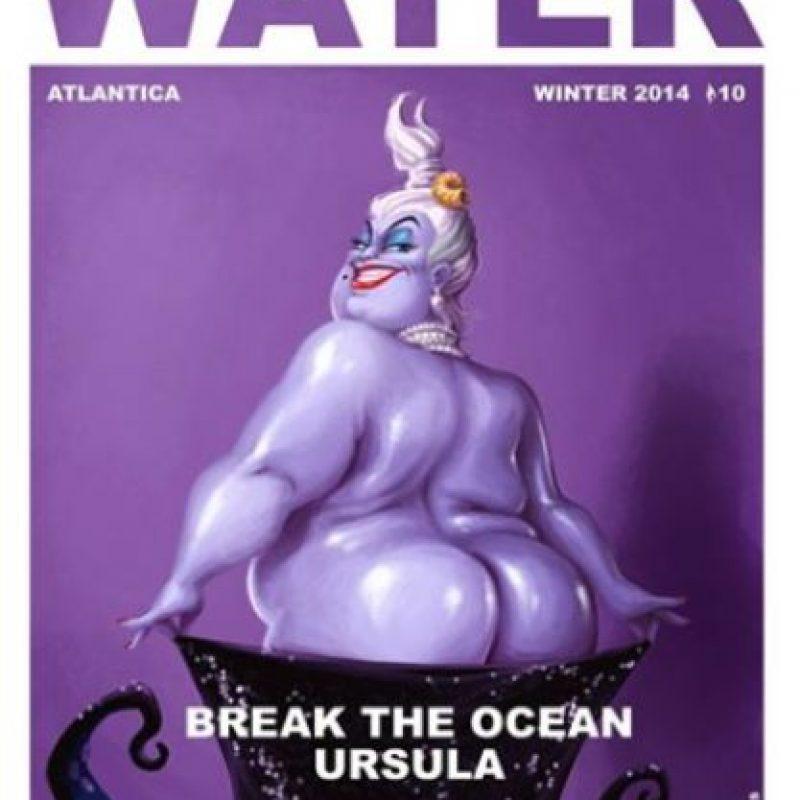 """Úrsula de """"La Sirenita"""" también decidió romper el océano con su trasero. Foto:Instagram"""
