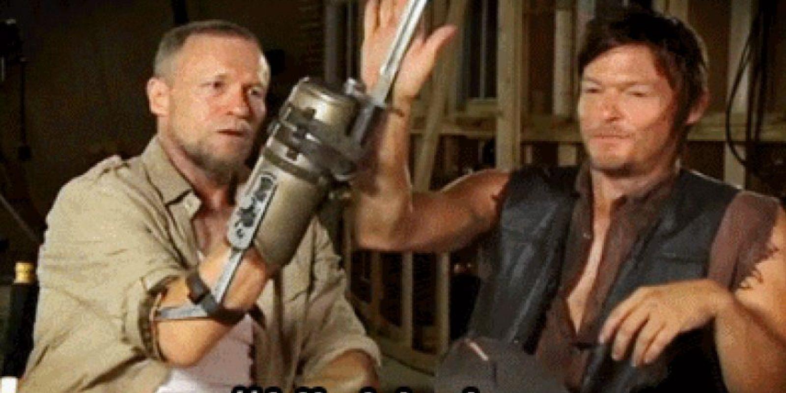 """Merrel y Daryl, los hermanos """"red neck"""" no existen en el cómic. Foto:Tumblr"""